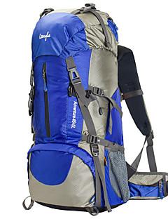 60 L Pacotes de Mochilas Mochila para Excursão Alpinismo Acampar e Caminhar Prova-de-Água Á Prova-de-Chuva Vestível MultifuncionalNáilon