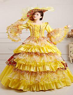 Yksiosainen/Mekot Gothic Lolita Steampunk® Viktoriaaninen Cosplay Lolita-mekot Vintage Pitkähihainen Pitkä Pituus Hat vartenPitsi Satiini