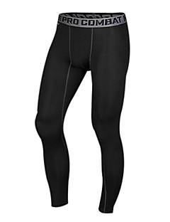 Herre Grunnlag Tights til jogging Lettvektsmateriale Komprimering Leggings Tights Bukser Bunner til Trening & Fitness Racerløp