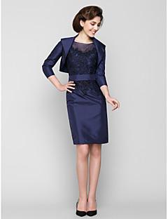 Szűk szabású Térdig érő Taft Örömanya ruha - Rátétek által LAN TING BRIDE®
