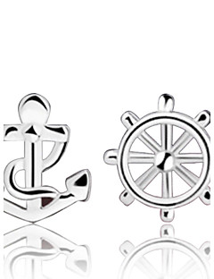 Dames Oorknopjes Kostuum juwelen Sterling zilver Anker Sieraden Voor Bruiloft Feest Dagelijks