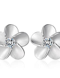 Dames Oorknopjes Zirkonia Modieus Kostuum juwelen Sterling zilver Kristal Zirkonia Kubieke Zirkonia Sieraden Voor Bruiloft Feest Dagelijks