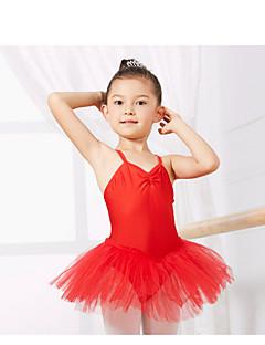 Детская одежда для танцев Балетное трико Детские Учебный Спандекс Без рукавов