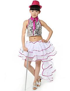 Ballet Outfits Kinderen Paillet 2-delig Mouwloos Laag Rokken Topjes