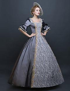 Yksiosainen/Mekot Gothic Lolita Steampunk® Viktoriaaninen Cosplay Lolita-mekot Hopea Yhtenäinen Trumpetti Pitkä Pituus Leninki Hat varten