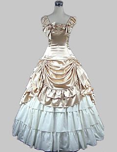 Yksiosainen/Mekot Klassinen ja Perinteinen Lolita Prinsessa Cosplay Lolita-mekot Kultainen Vintage Perhonen Hihaton Pitkä PituusHame