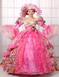 Yksiosainen/Mekot Gothic Lolita Klassinen ja Perinteinen Lolita Steampunk® Viktoriaaninen Cosplay Lolita-mekot Punainen Patchwork