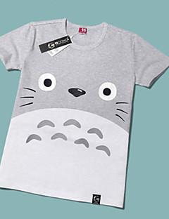 Innoittamana Naapurini Totoro Kissa Anime Cosplay-asut Cosplay T-paita Painettu Lyhythihainen T-paita Käyttötarkoitus Unisex