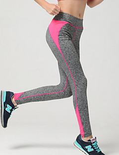 Dame Tights til jogging Pustende Myk Komprimering Glat Leggings Bunner til Trening & Fitness Løp Svart Oransje Gul Rose Rød Himmelblå M L
