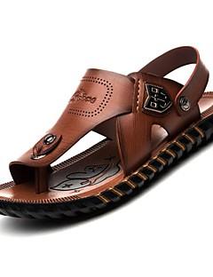 Bărbați Confortabili Nappa Leather Primăvară Vară Toamnă Outdoor Birou & Carieră Rochie Casual Atletic Toc Plat Maro