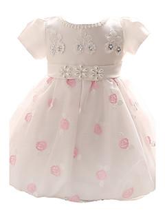baby girl blå / rosa kjole, baug polyester alle årstider