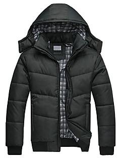 コート レギュラー パッド入り メンズ,カジュアル/普段着 ソリッド ナイロン ポリプロピレン-シンプル 長袖