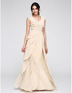 Pouzdrové Do V Na zem Šifón Promoce Formální večer Šaty s Sklady podle TS Couture®
