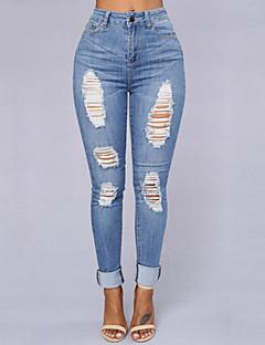 婦人向け ストリートファッション ジーンズ パンツ,コットン 伸縮性あり