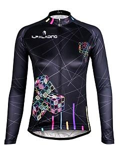 ILPALADINO Fahrradtrikot Damen Langarm Fahhrad Trikot/Radtrikot Rasche Trocknung UV-resistant Atmungsaktiv Tasche auf der Rückseite