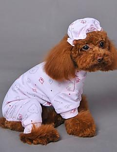 Kediler / Köpekler Pijamalar Sarı / Mavi / Pembe Köpek Giyimi Kış / İlkbahar/Kış Hayvan Düğün / Cosplay