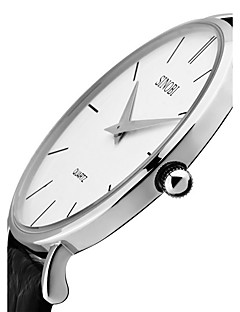 SINOBI Pánské Módní hodinky Křemenný Voděodolné Odolný vůči nárazu Pravá kůže Kapela Retro Luxusní Minimalistické Černá Hnědá