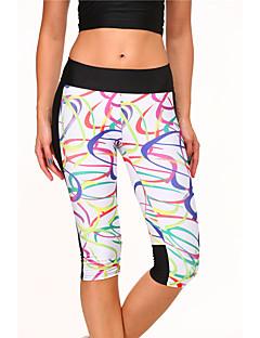 calças de yoga Calças Respirável Natural Com Elástico Moda Esportiva Branco Mulheres Ioga