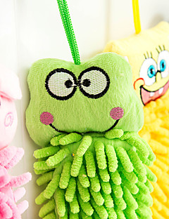 håndklæde dejlige håndklæder dyr mønster hånd føler og drapere fiber (tilfældige farver)