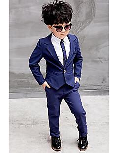 Genç Erkek Resmi Polyester Solid Bahar Sonbahar Uzun Kol Setler Gömlek Takım Elbise ve Blazer