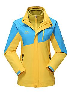 Naisten 3-in-1 -takit Vedenkestävä Pidä lämpimänä Tuulenkestävä Pölynkestävä Hengittävä Double Sliders 3-in-1 -takit Naisten takki