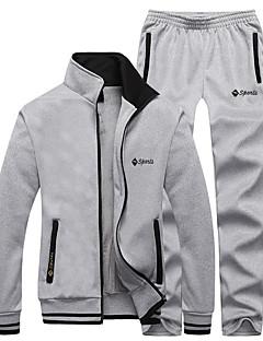 Homens Mulheres Moletom Manga Longa Térmico/Quente Forro de Velocino Macio Confortável Calças Blusas Conjuntos de Roupas para Correr