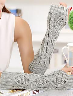 kvinners enkle geometriske strikkevarer albue lengde halv finger søt / fest / enkle vinterhansker