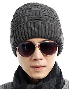 メンズ ニット ビーニー帽,ヴィンテージ / オフィス / カジュアル 秋 / 冬