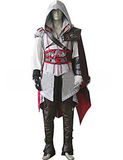 Inspireret af Snigmorder Cosplay video Spil Cosplay Kostumer Cosplay Kostumer Ensfarvet Langærmet Frakke Handsker Bælte Kappe Mere