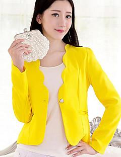 Damen Solide Einfach Ausgehen Lässig/Alltäglich Blazer Frühling Herbst Langarm Kurz Polyester