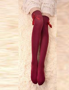 Sokken en kousen Klassiek en Tradtioneel Lolita Veters Rood Lolita-accessoires Kousen Strik Voor Katoen