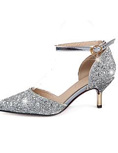 Damă Tocuri Primăvară Vară Toamnă Luciu Nuntă Birou & Carieră Party & Seară Toc Stiletto Paiete Cataramă Auriu Argintiu