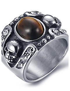 Homens Maxi anel Anel ônix bijuterias Ágata Aço Titânio Jóias Para Diário Casual