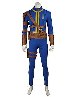 Inspireret af Overwatch Ace video Spil Cosplay Kostumer Cosplay Kostumer Cosplay Toppe / Underdele Ensfarvet BlåTrikot Bælte Mere