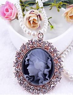 Schattig Halsketting Geïnspireerd door vintage Lolita-accessoires Halsketting Effen Voor Polyester Metalen