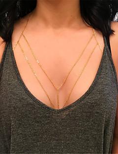 נשים תכשיטי גוף שרשרת גוף / בטן שרשרת אופנתי תכשיטים סגסוגת Geometric Shape תכשיטים עבור Party אירוע מיוחד קזו'אל