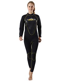 SLINX 여성용 5mm 전신 잠수복 보온 네오프렌 잠수복 긴 소매 다이빙 복-수영 다이빙 봄 여름 겨울 가을 솔리드 클래식