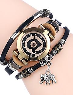 Dámské Náramkové hodinky čínština Křemenný Kůže Kapela Cool Běžné nošení Černá Bílá Modrá Hnědá