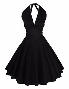 Women's Party Going out Club Vintage Simple Cute A Line Sheath Dress,Solid Round Neck Above Knee Sleeveless Cotton Linen ModalSpring