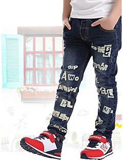 Para Meninos Jeans Informal Casual Escola Estampado Verão Primavera Outono Algodão