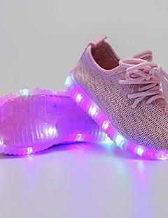 Fete Adidași Pantofi Usori Tul Vară Toamnă Casual Pantofi Usori LED Toc Jos Negru Albastru Închis Gri Închis Roz Sub 2.5 cm