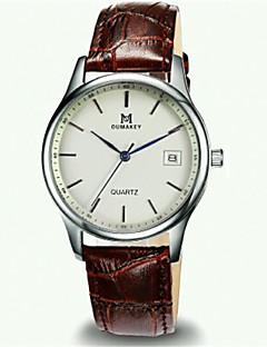 Pánské Módní hodinky Křemenný Kalendář Voděodolné Kůže Kapela Černá Hnědá