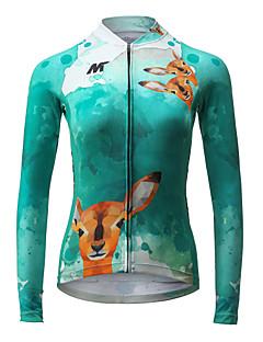 Maillot de Cyclisme Femme Manches Longues Vélo Maillot Séchage rapide Respirable Polyester Mode Printemps Eté Automne
