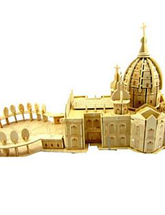 Puzzle Sada na domácí tvoření 3D puzzle Stavební bloky DIY hračky Kostel Architektura