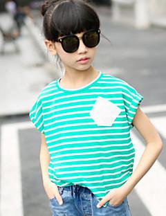 Tyttöjen Muut Color Block T-paita Muu Syksy Lyhythihainen