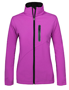 Mulheres Jaqueta Softshell de Trilha Ventilação Anti-Roupa Térmico/Quente A Prova de Vento Forro de Velocino Vestível Blusas para Correr