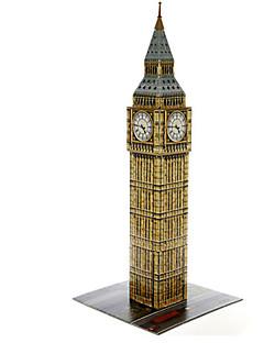 Puzzle Sada na domácí tvoření 3D puzzle Stavební bloky DIY hračky Kulatý Přírodní dřevo