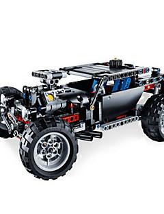 Puzzle Sada na domácí tvoření 3D puzzle Stavební bloky DIY hračky Tank Přírodní dřevo