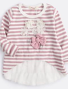 Tyttöjen Raita T-paita Puuvilla Kevät Syksy