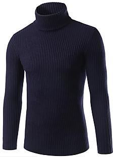Masculino Padrão Pulôver,Para Noite Casual Moda de Rua Sólido Colarinho de Camisa Manga Longa Raiom Poliéster Outono Inverno GrossaCom